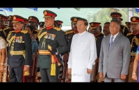 President's speech at Panagoda Sri Lanka Light Infantry Headquarters