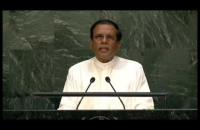 President Maithripala Sirisena addressing the 70th General Assembly