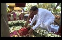 President attends a religious event at Mahamevuna Bodhignana Monestry
