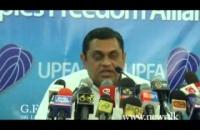 Hon. Shashindra Rajapaksha at S.L.A.F. Press briefing  2014 12 15