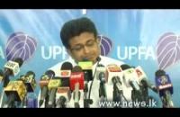 Hon. Udaya gammanpila at S.L.A.F. press conferance 2014 12 14