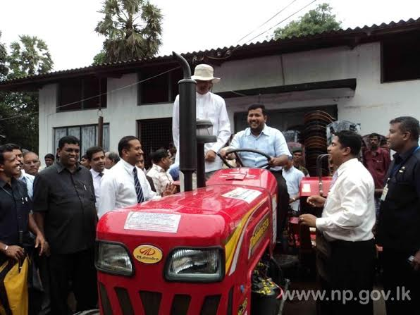 Government distributes 360 tractors to Wanni Districts