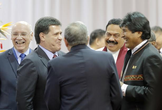 President Rajapaksa Attends the Opening Session of the G77China Summit 2