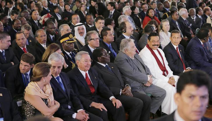 President Rajapaksa Attends the Opening Session of the G77China Summit 3