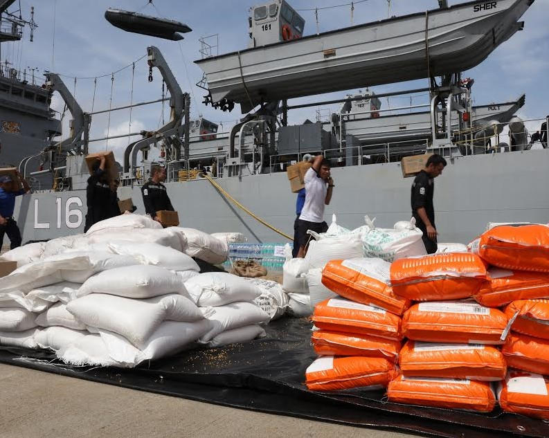 Second Indian ship with relief goods arrive