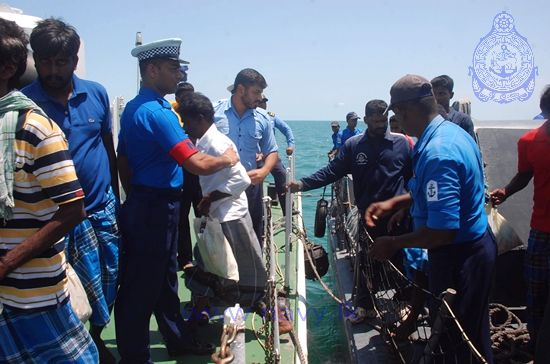SL Navy assists Repatriation of Indian Fishermen 1