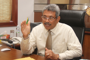 Secretary Defence and Urban Development Mr. Gotabaya Rajapaksa
