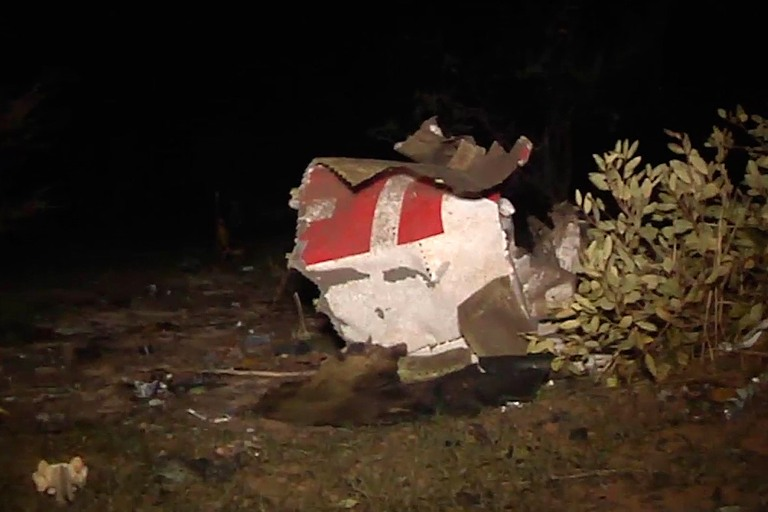 Part of the plane wreckage Air Algerie flight AH5017