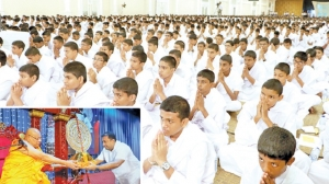 Students observe Sil at Temple Trees