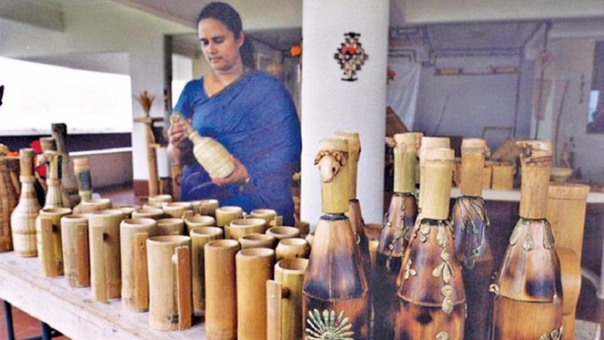 Sri Lanka pioneers bamboo crafts training with UNIDO