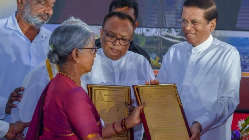 Releasing of occupied land under the Sirisena Presidency