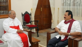Pesident meets Archbishop of Colombo