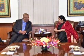 Finance Minister meets Indian Foreign Minister in New Delhi