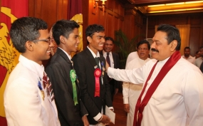 President felicitates winners of  Intel ISEF 2014