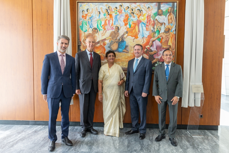 Unveilied painting in honour of the late Lakshman Kadirgamar at Geneva