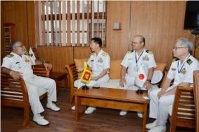 JMSDF senior officers call on Chief of Staff