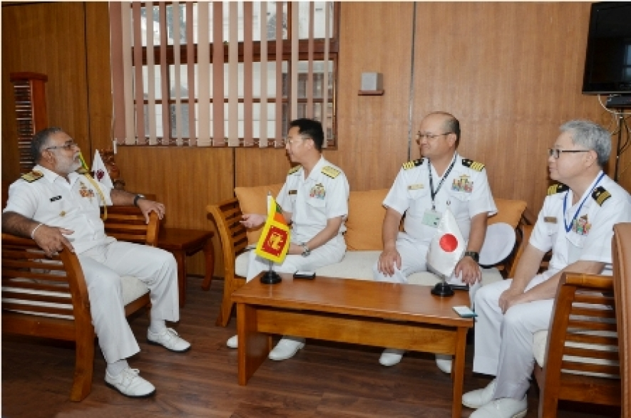 JMSDF senior officers call on Chief of Staff