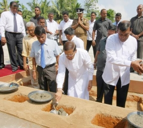 President launches construction work of Sobadam Piyasa