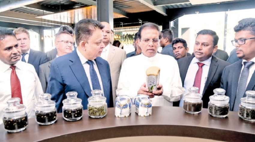 The new tea factory  opened by the President