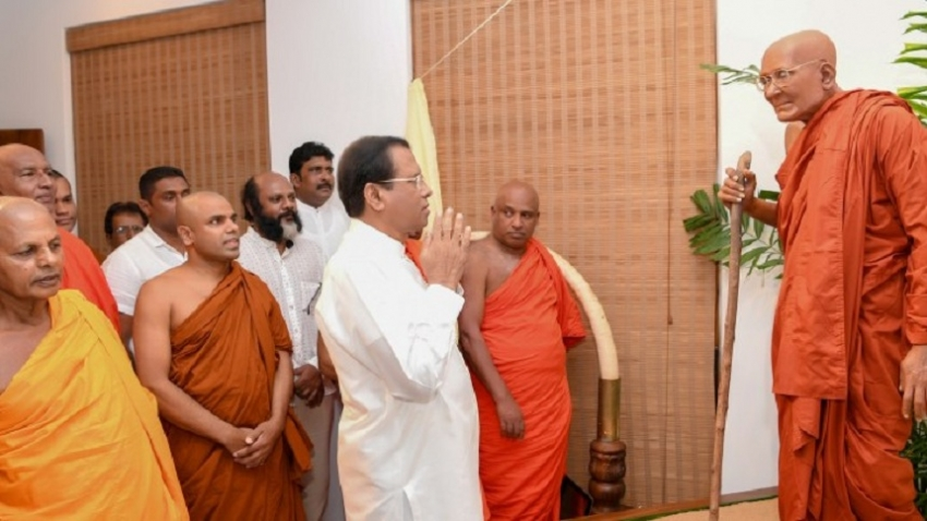President  open the 'Dauldena  Maha Nayake Thero' commemorative building