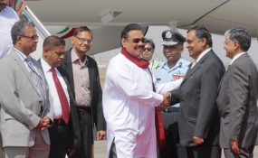 President Rajapaksa Arrives in New Delhi