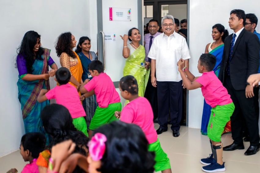 "President says I was privileged to declare open ""Ayati Centre"" first National Centre for differently-abled children"