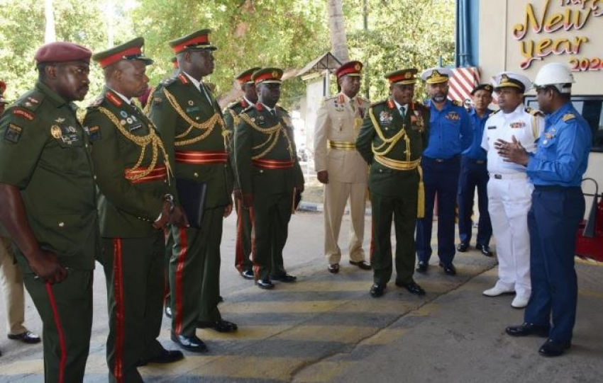 Zambian Republic's Army Commander visited Naval Boat Building Yard in Welisara