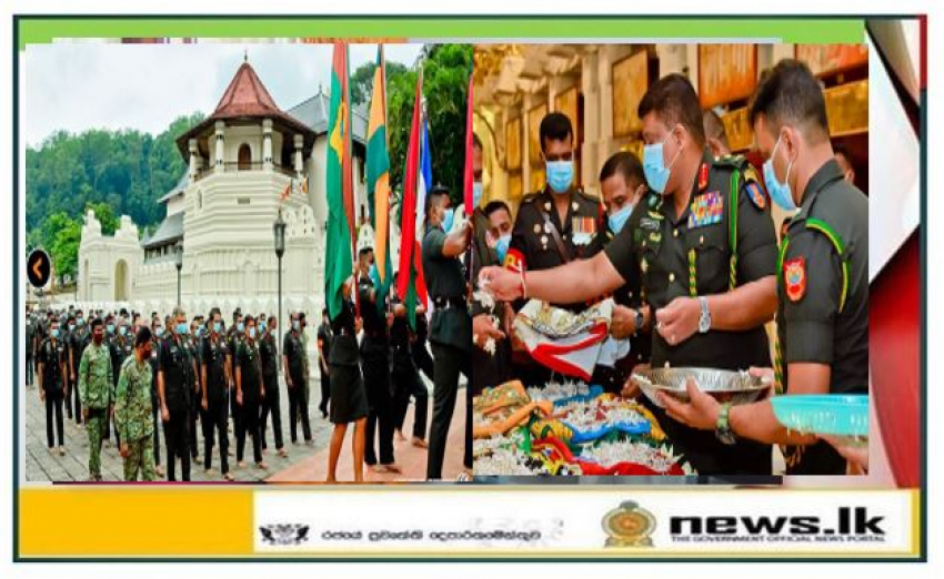 71st Army Anniversary Commemorations Begin Prioritizing Worship of 'Shareerika' Relics at Sri Dalada Maligawa