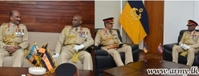 Army Commander meets Field Marshal and Chief of Defense Staff
