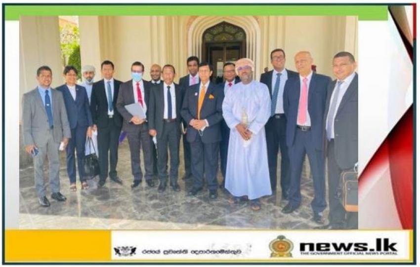Special Representative of Prime Minister Mahinda Rajapaksa visits Oman