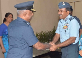 Indian Air Force Chief welcomed at BIA by Air Force Chief