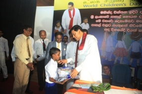 Minister Basil attends Biyagama World Children's Day celebrations