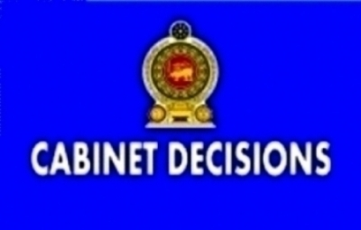 DECISIONS TAKEN BY THE CABINET OF MINISTERS AT ITS MEETING HELD ON 01-08-2016