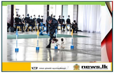 Explosive and Narcotic detecting Air dogs pass out at Katunayake
