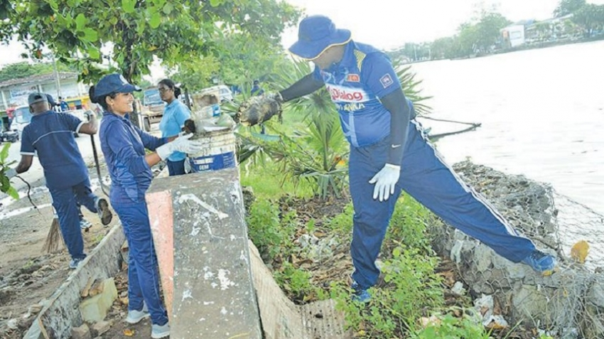 Clean-up in Batticaloa town