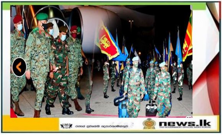 Commander at Airport to See First Team of 7th Army Contingent Off to South Sudan