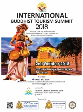 First International Buddhist Tourism Summit tomorrow