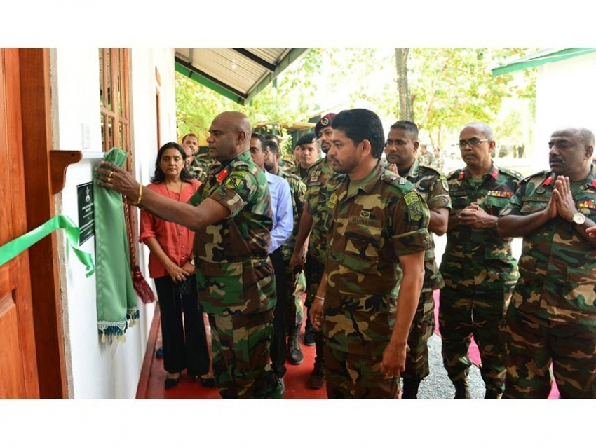 New Medical Centre at Special Forces Training School - Maduruoya