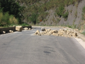 Beware of landslides, rock falls, cut slope failures - DMC