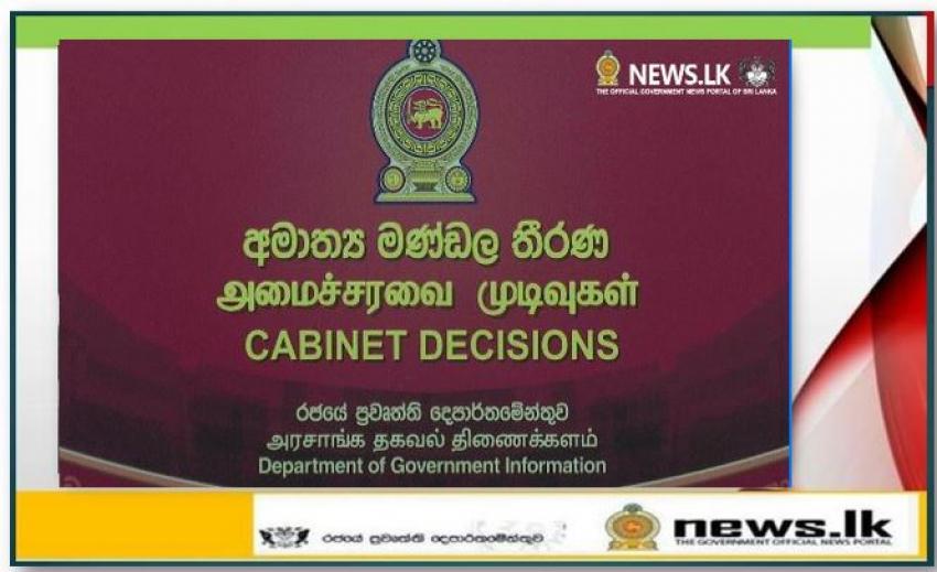 Cabinet Decisions- 12-10-2020
