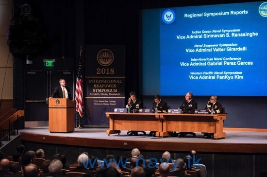 Navy Commander addresses International Sea Power Symposium in USA