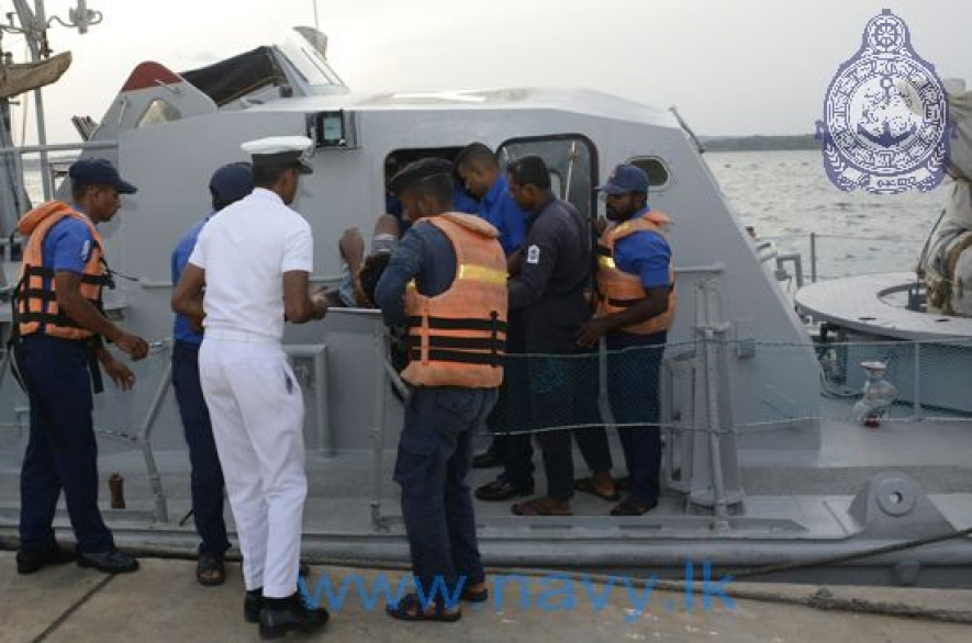 Navy brings ill fishermen ashore for immediate treatment