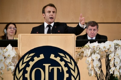 Macron warns on 'capitalism gone mad' in ILO speech