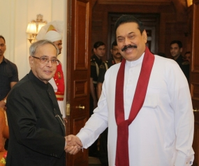 President Rajapaksa and President Mukherjee Meet in New Delhi