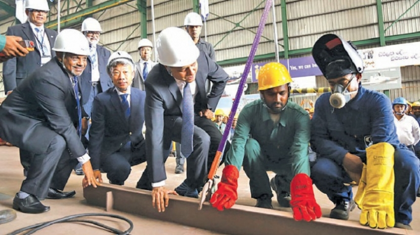 Colombo Dockyard begins construction of Ports Authority vessel
