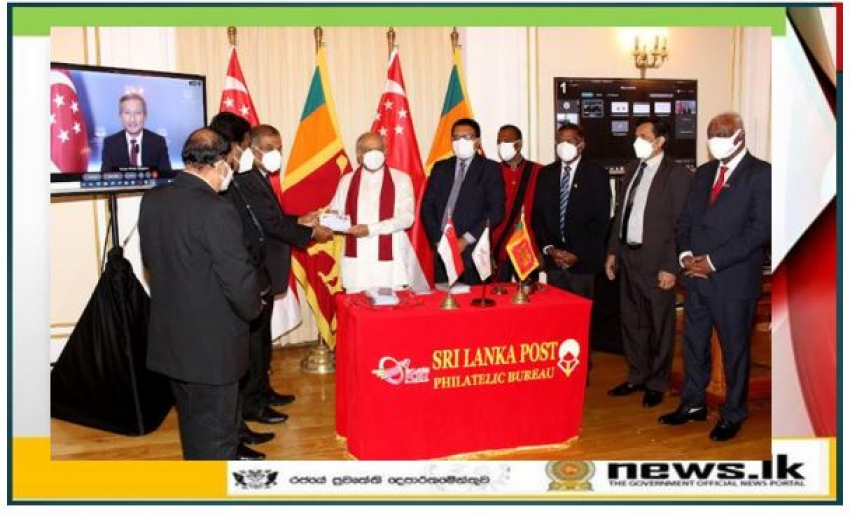 Joint stamp launches in Sri Lanka and Singapore to commemorate 50 years of diplomatic ties