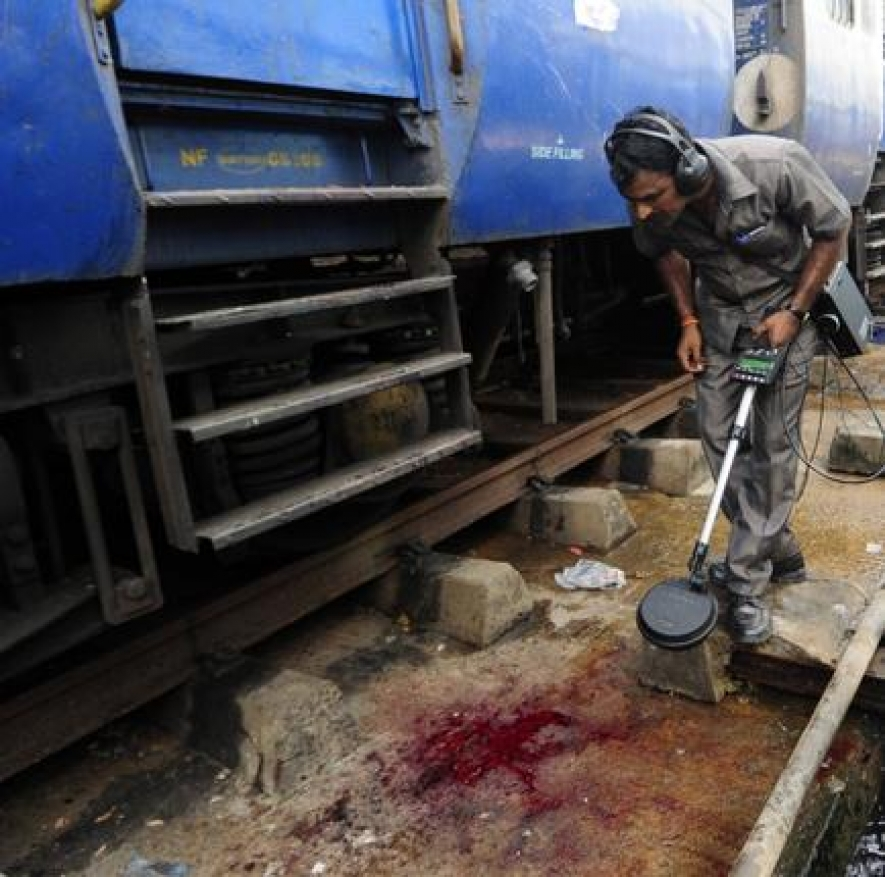Woman killed in twin blasts at Chennai Central station