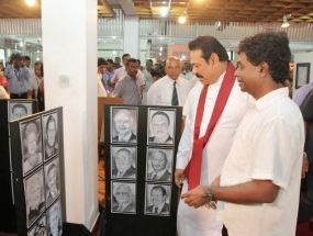 "President opens Wasantha Sanath's ""My Pencil"" Solo Art Exhibition"