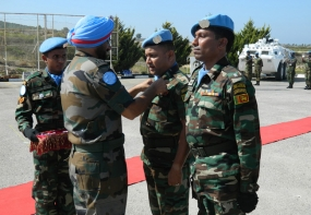Lebanon Peacekeepers Receives UN Medals