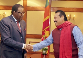 President Rajapaksa meets Namibian PM in Bolivia